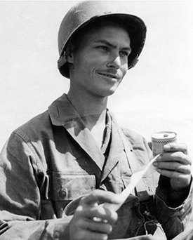 Desmond T. Doss in Okinawa, Japan. Photo courtesy of the Desmond Doss Council