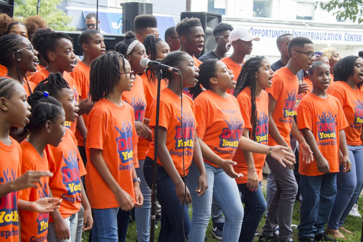 Members of the DMV Gospel Choir Perform