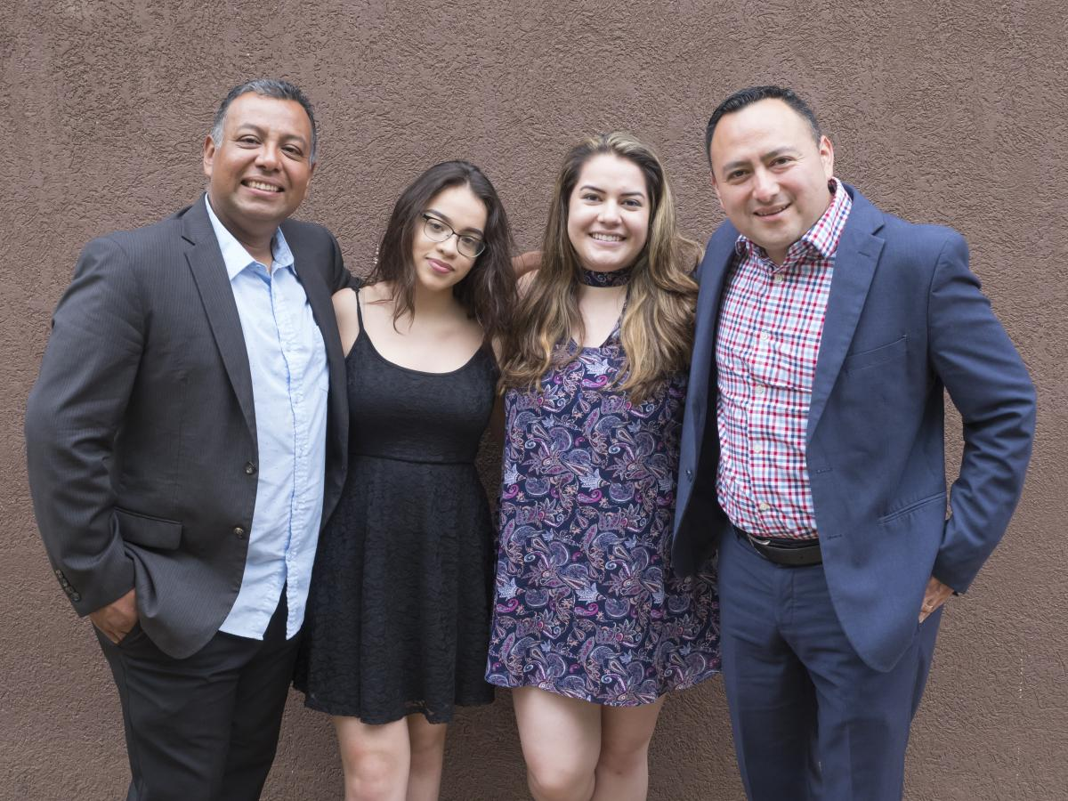 Worship director Carlos Paz (pictured left) and Pastor Williams Ovalle (right) minister to and with second- and third-generation Latino members like Jasmin Guevara and Saraí del Cid at the Manassas Spanish and Manassas II Spanish churches in Northern Virginia.