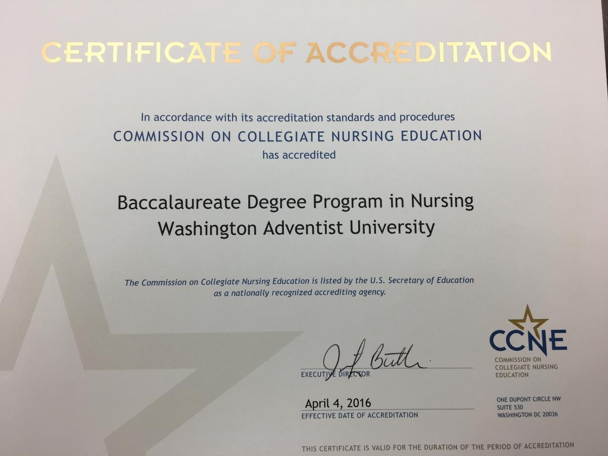 baccalaureate degree in nursing