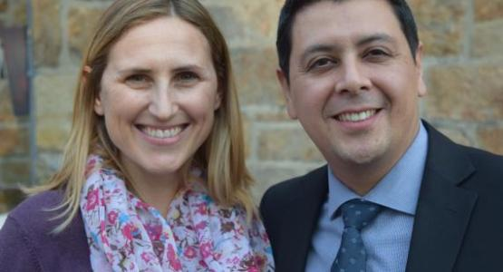 Paulo Acosta, alongside his wife, Juliana, is the new associate treasurer for the Pennsylvania Conference