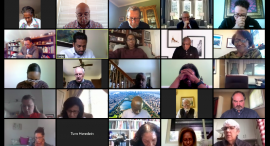 Columbia Union Executive Committee members meet on Zoom
