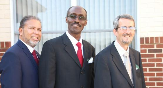 New Leaders (L-R) Mario Thorp, executive secretary, Jorge Aguero, president and Joel D. Tompkins, treasurer. Photo by Jorge Pillco