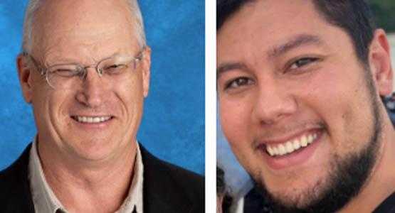 Harry Janetzko (left) is the Chesapeake Conference Highland View Academy's (HVA) new principal, and alumnus Reed Kenji Nomura is HVA's new math teacher.