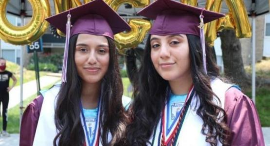 Reina and Maria Cardona, graduates of Potomac Conference's Takoma Academy in Takoma Park, Md., are among the Columbia Union Conference students who received the Caring Heart Award from the Columbia Union Conference Office of Education for demonstrating a commitment to service and witnessing.