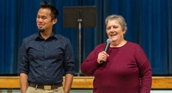 After 31 years, Beltsville's principal, Wendy Pega, is handing over the reigns to Jerson Malaguit.