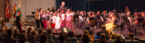 "Before dinner, the Spring Valley Academy Music Department presents ""It's a Small World"" in the Fritzsche Center for Worship and Performing Arts."