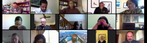 Columbia Union Executive Committee members meet on Zoom