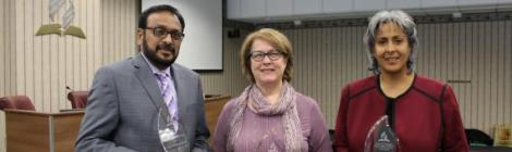 Franklin David, Dave Robinson (Karen Robinson accepted the award on his behalf) and Lillian Torres received Notable Persons of Honor Awards at the Columbia Union Conference Executive Commitee Meeting