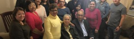 "Led by Irene Núñez (third from right), this Vida GPS ""Emmanuel"" healthy small group of the West New York Spanish (N.J.) church meets weekly."