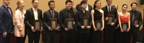 Jidong Zhong, third from left, at the Music Teachers National Association Young Artist Piano Competition.