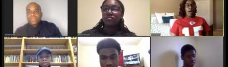 Panelists Michael Polite, youth director of the South-Central Conference, and students Akiyah Maxwell ('23), Erin Harrell ('20), Danyel Brewer ('22), Jahni Monticquee ('21) and Leonardo Laroque ('21) share words of wisdom during the virtual Week of Prayer.