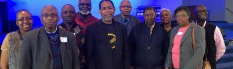 Regional Prison Ministries chapter presidents pose with elected officers at the recent constituency meeting held at Miracle City church in Baltimore.