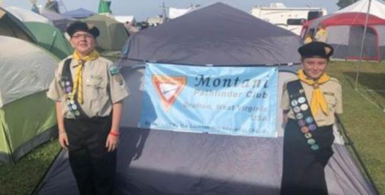 Jeffery Jones and Robin Shafer comprised the smallest Pathfinder club at the recent international camporee.