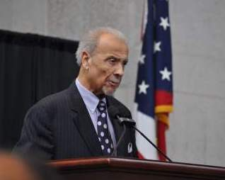 Frank Hale Jr., PhD, spoke during the ceremony in which he was inducted into the Ohio Civil Rights Hall of Fame.