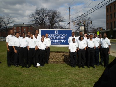 Members of AEC's CROP mentoring program visit Washington Adventist University in Takoma Park, Md.