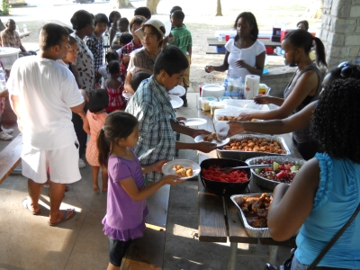 Worthington church members feed refugee families recently displaced by an apartment fire.