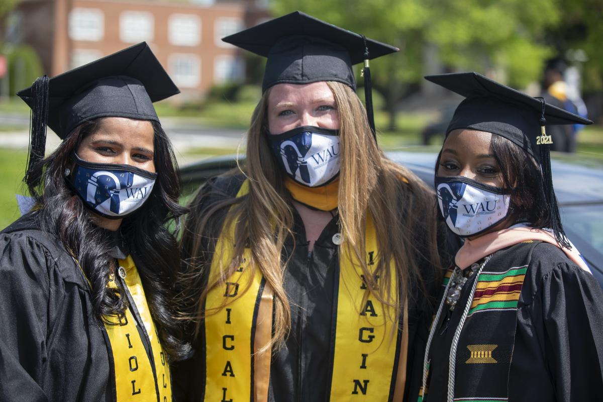 Washington Adventist University graduates enjoy their graduation weekend.